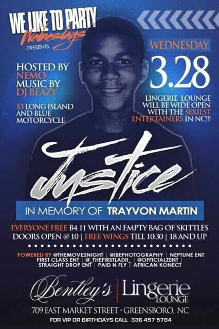 Trayvon Martin Party Flyer