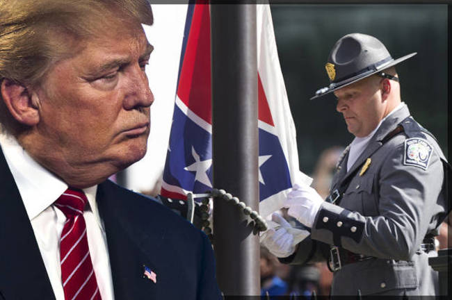 They took down the Confederate Flag and now we have Donald Trump as a symbol of hate instead. Thanks Obama!