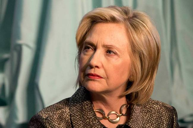 Democratic presidential candidate Hillary Rodham Clinton attends The Hillary Rodham Clinton Awards for Advancing Women in Peace and Security, in the Riggs Library at Georgetown University in Washington, Wednesday, April 22, 2015. (AP Photo/Jacquelyn Martin)