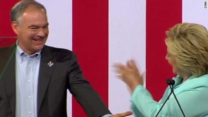 Hillary Clinton introduces Tim Kaine in Miami, Florida